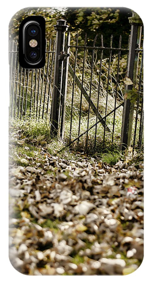 Iron IPhone X Case featuring the photograph The Old Gate by Heather Applegate