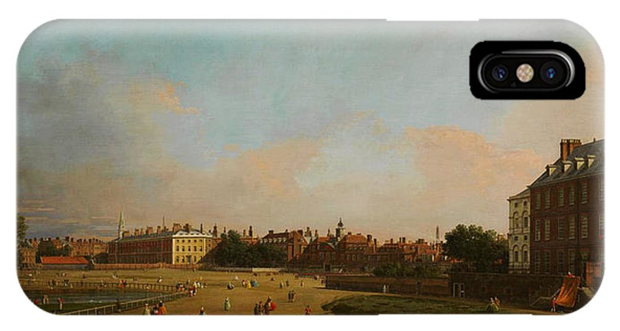 The Old Horse Guards From St James�s Park IPhone X / XS Case featuring the painting The Old Horse Guards From St James S Park by Celestial Images