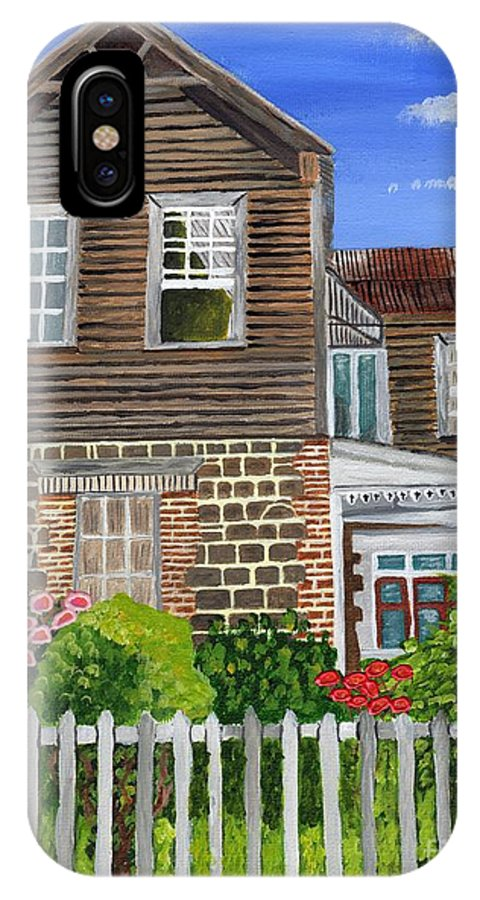 Old House IPhone X Case featuring the painting The Old House by Laura Forde