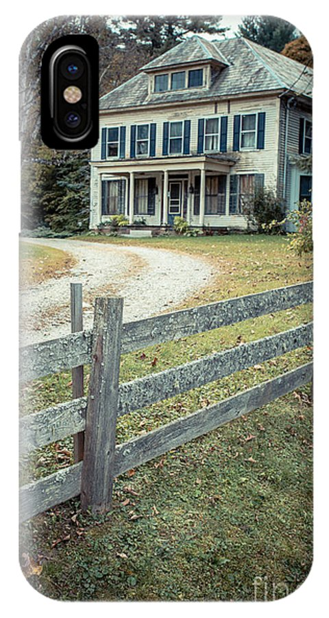 New Hampshire IPhone X Case featuring the photograph The Old House On The Hill by Edward Fielding