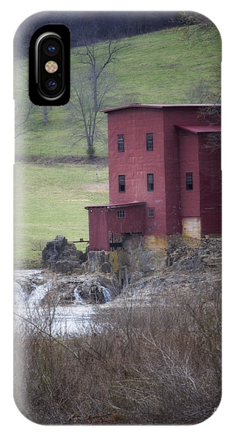 Old Mill IPhone X Case featuring the photograph The Old Mill by Carolyn Fox