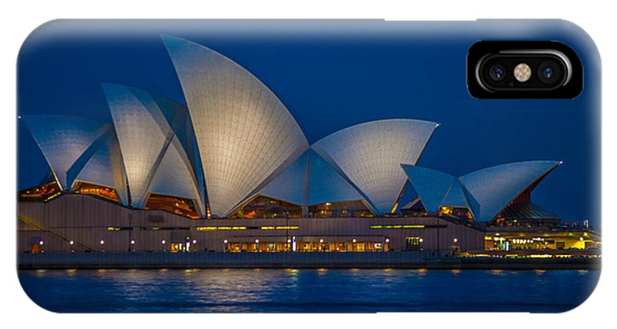 Sydney Opera House IPhone X Case featuring the photograph The Opera House by Dasmin Niriella