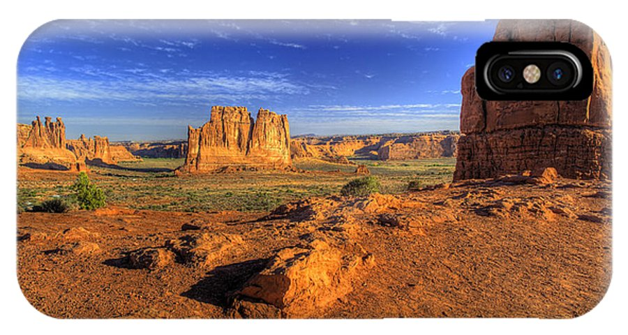 Arches National Park IPhone X Case featuring the photograph The Organ-2 by Fred Adsit