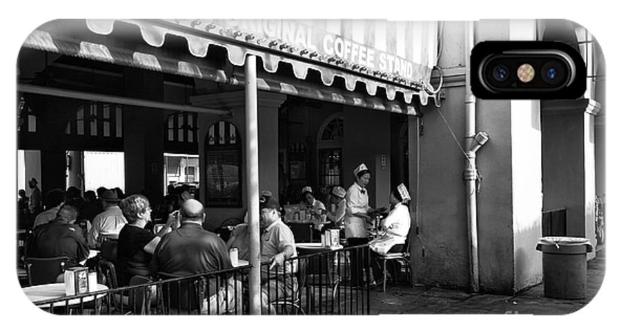 The Original Coffee Stand IPhone X Case featuring the photograph The Original Coffee Stand Mono by John Rizzuto