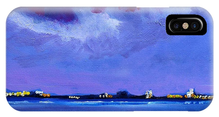 Nightscape IPhone X Case featuring the painting The Other Side by Marisa Reilly