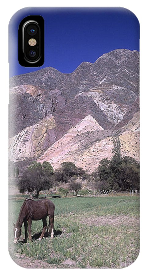Argentina IPhone X Case featuring the photograph The Painters Palette Jujuy Argentina by James Brunker