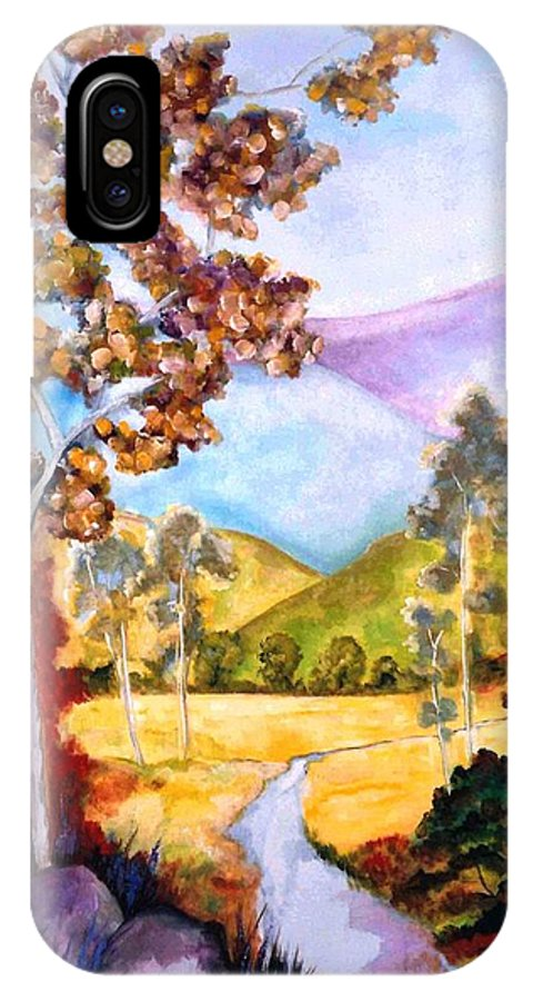 Lyle IPhone X Case featuring the painting The Path by Lord Frederick Lyle Morris - Disabled Veteran