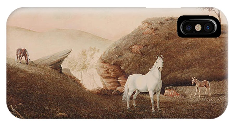 Horse IPhone X Case featuring the painting The Patriarch by Duane R Probus