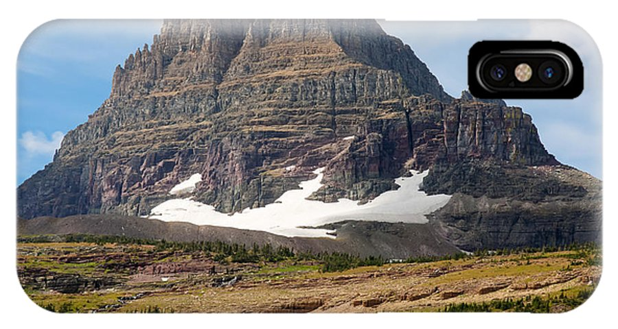 Nature IPhone X Case featuring the photograph The Peak At Logans Pass by John M Bailey