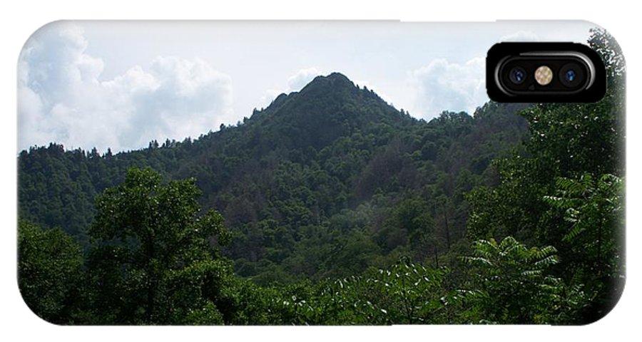 Landscape IPhone X Case featuring the photograph The Peak by Rosanne Bartlett