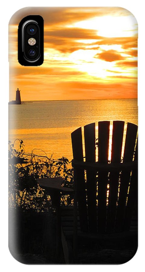Nh IPhone X / XS Case featuring the photograph New Castle New Hampshire by Jeffrey Akerson