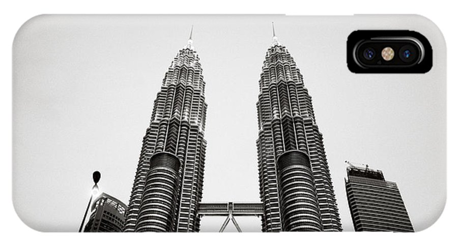 Petronas Towers IPhone X Case featuring the photograph The Petronas Towers Malaysia by Shaun Higson