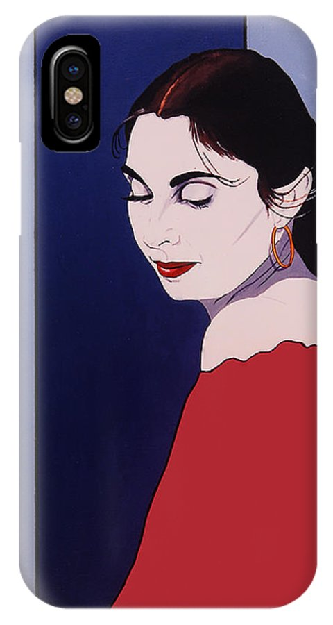 Pink Shawl IPhone X Case featuring the painting The Pink Shawl by Gerard Bianco
