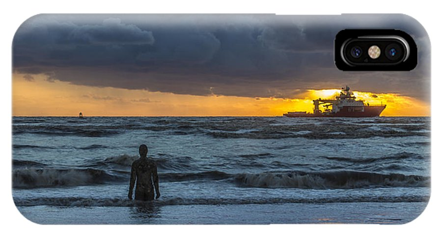 Liverpool IPhone X Case featuring the photograph The Polar King From Crosby Beach by Paul Madden