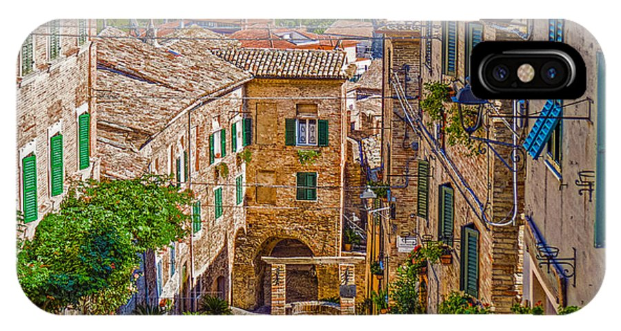 Italy IPhone X Case featuring the photograph The Polenta Well by Brian Shea