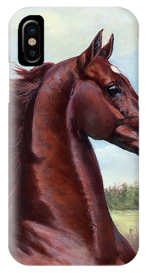 Merchant Prince IPhone X Case featuring the painting The Prince by Happy Valley Farm Fund