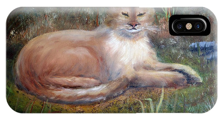 Wildlife IPhone X Case featuring the painting The Queen by Marlene Johnson