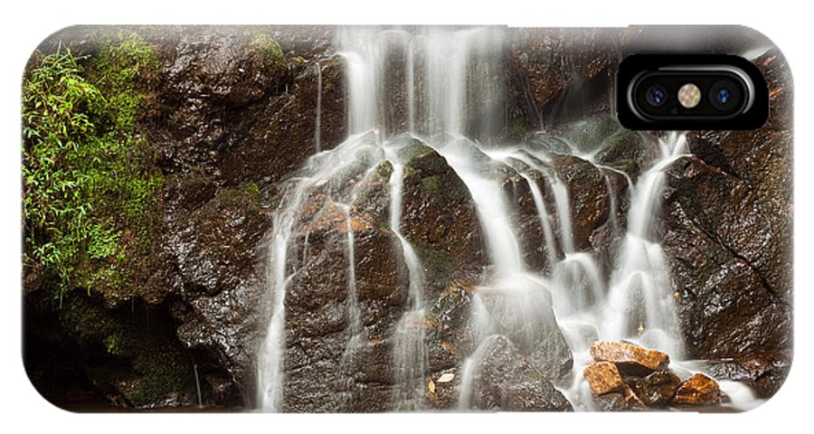 2010 IPhone X Case featuring the photograph The Quiet Waterfall by Benjamin DeHaven