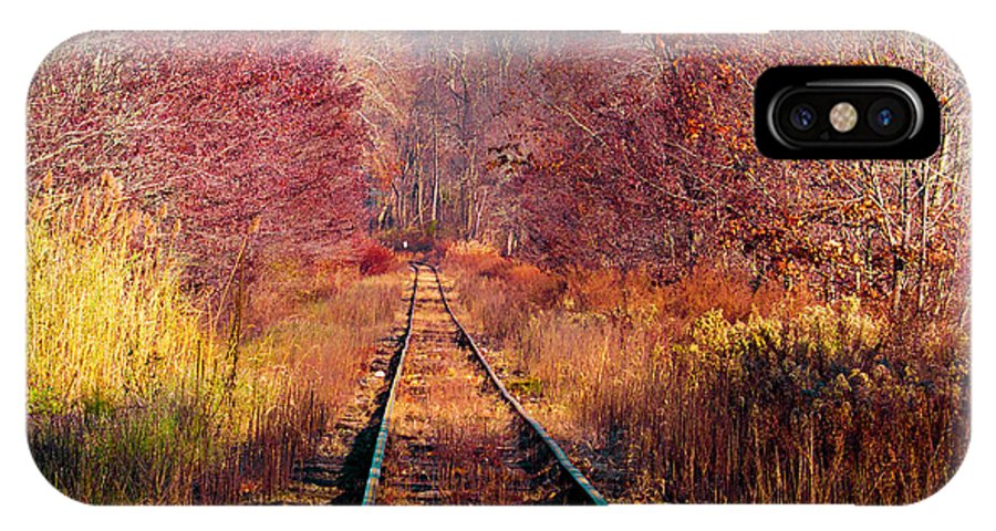 Nature IPhone X / XS Case featuring the photograph The Railroad by Tracey O'Connor