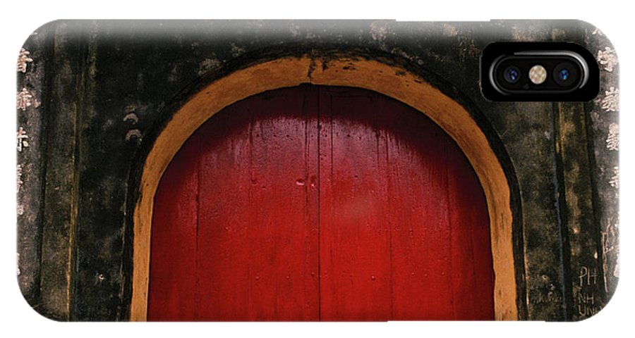 Asia IPhone X Case featuring the photograph The Red Door by Shaun Higson