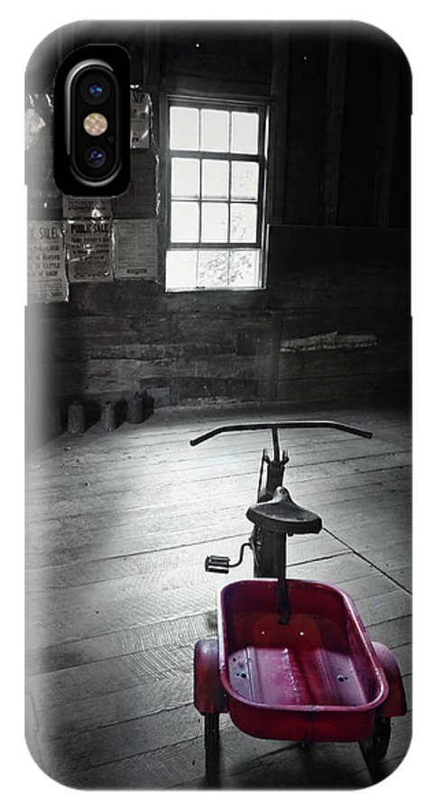 Bear's Mill IPhone X Case featuring the photograph The Red Wagon by Natasha Marco