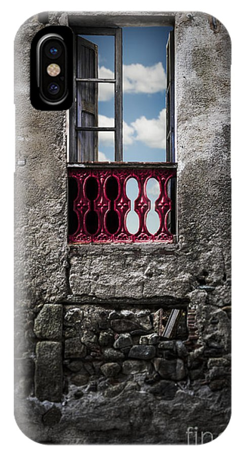 Rice IPhone X / XS Case featuring the photograph The Red Window by Monica Quintana