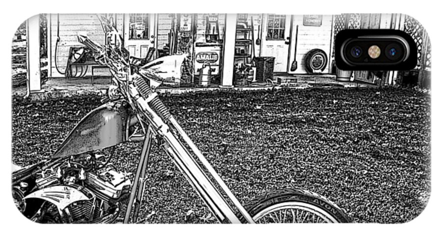 Chopper; Motorcycle; Bike; Motorcycle Art; Custom Chopper IPhone X Case featuring the photograph The Rest  by Lesa Fine