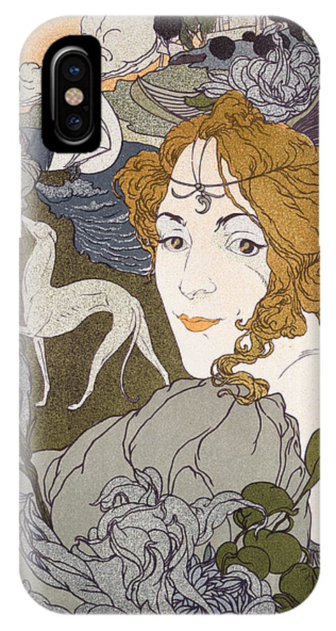 Fuere IPhone X / XS Case featuring the painting The Return by Georges de Feure