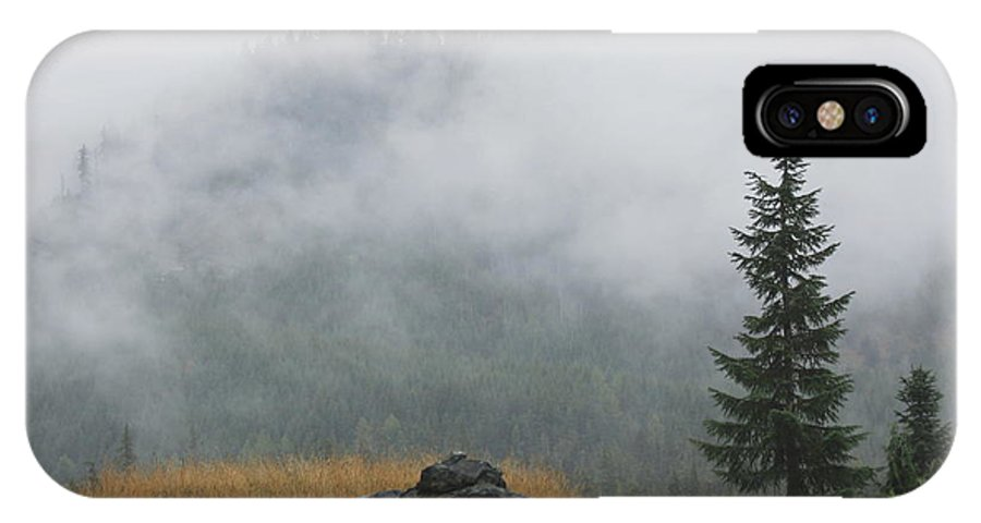 Misty Mountain IPhone X Case featuring the photograph The Revealing I by Amanda Holmes Tzafrir