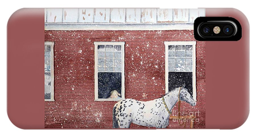Horses IPhone X / XS Case featuring the painting The Ride Home by LeAnne Sowa