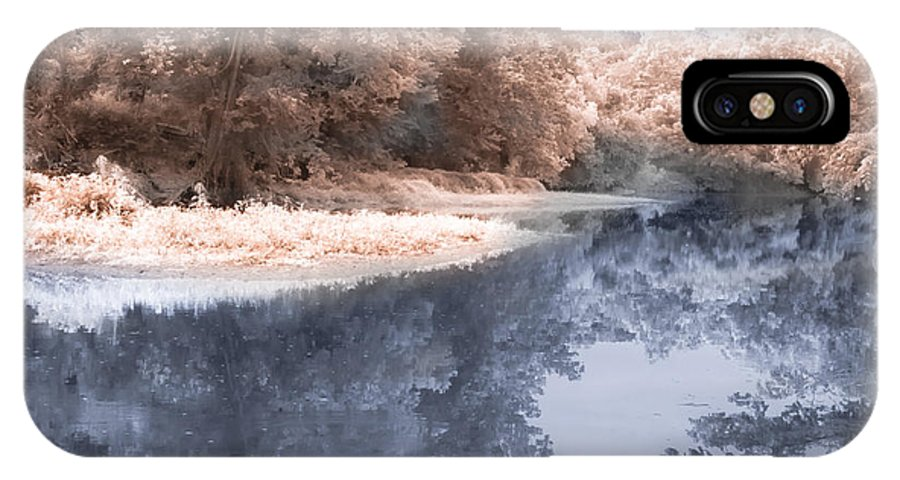 River IPhone X / XS Case featuring the photograph The River - Near Infrared by Scott Hervieux
