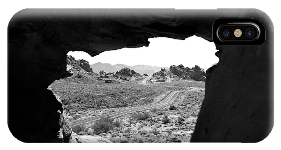 Rock Formation IPhone X Case featuring the photograph The Road Beyond Cave by Emilio Maria
