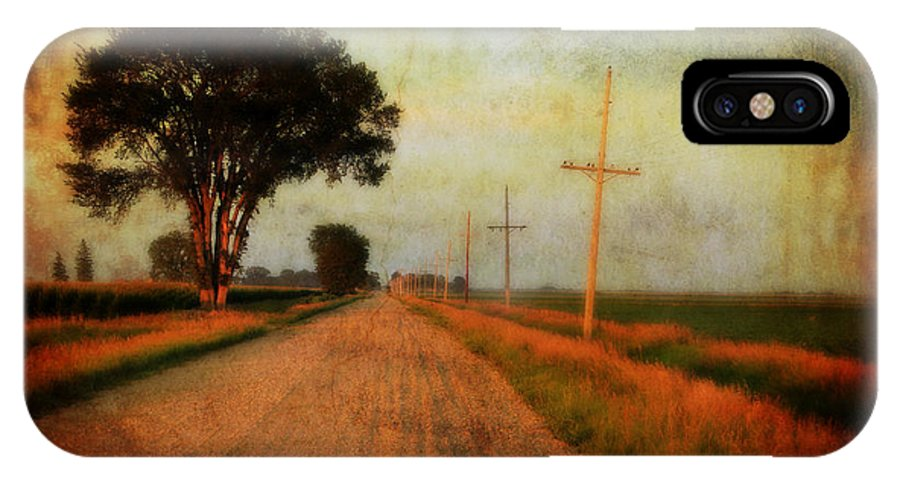 Gravel Road IPhone X Case featuring the photograph The Road Home by Julie Hamilton