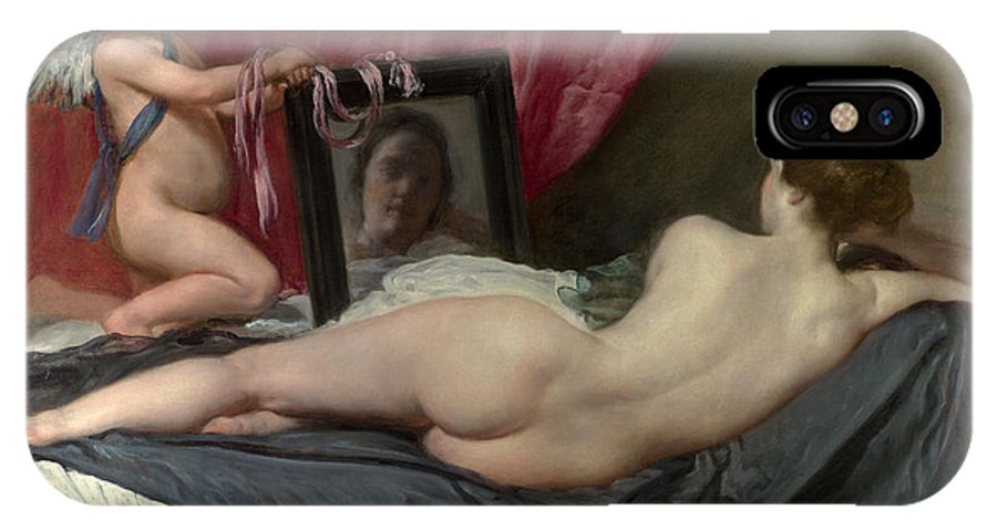 Diego Velazquez IPhone X / XS Case featuring the painting The Rokeby Venus by Diego Velazquez