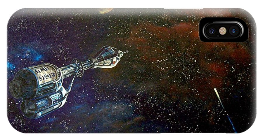Vista Horizon IPhone X / XS Case featuring the painting The Search For Earth by Murphy Elliott