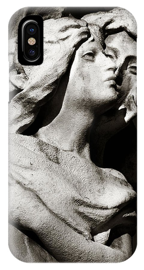 Woman Telling A Secret Black And White Home Decor Statue Photo Print Whisper Faces IPhone X Case featuring the photograph The Secret by Angela Bonilla