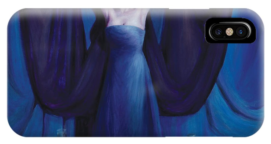 Shelley Irish IPhone X Case featuring the painting The Seer by Shelley Irish
