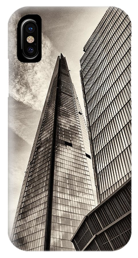 London IPhone X Case featuring the photograph The Shard - The View by Lenny Carter
