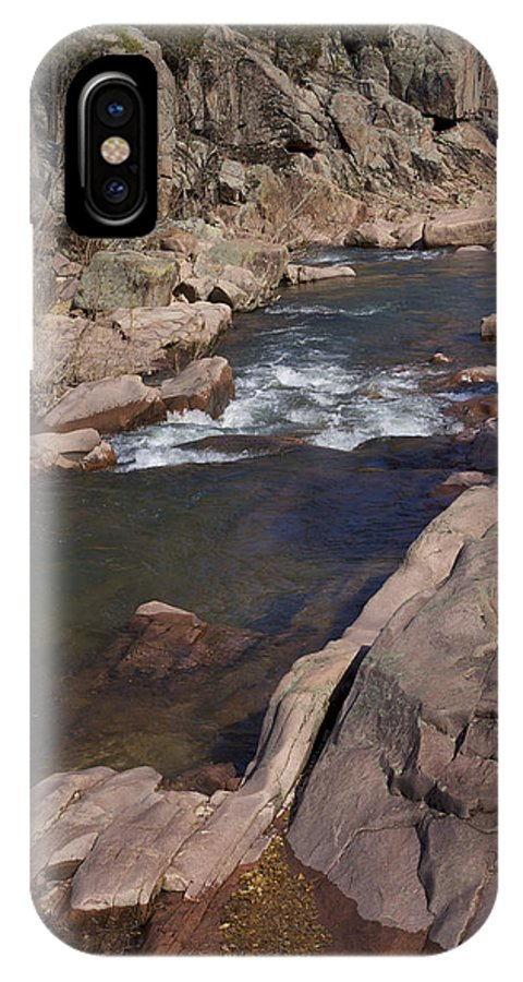 Amidon IPhone X Case featuring the photograph The Shut Ins -nature Art Print by Jane Eleanor Nicholas