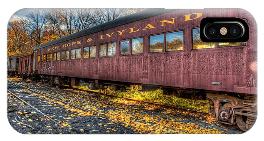 Railroad IPhone X Case featuring the photograph The Siding by William Jobes