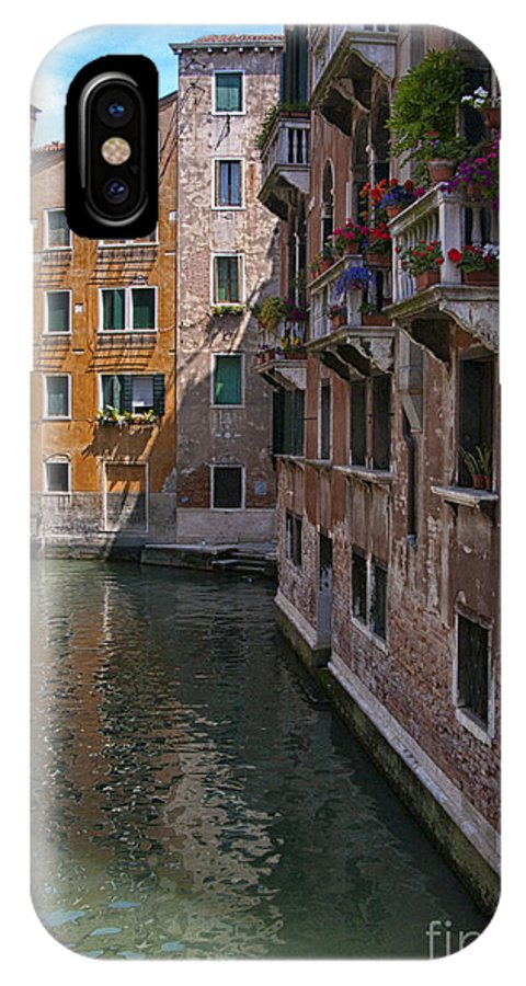 Venice IPhone X Case featuring the photograph The Silent Street by Sandra Bronstein