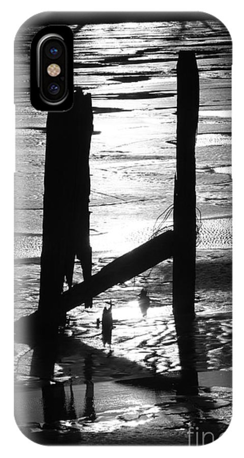 Pilings IPhone X Case featuring the photograph The Silhouette by Yumi Johnson