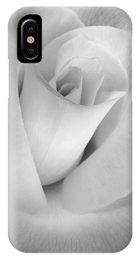 Rose IPhone X Case featuring the photograph The Silver Rose In Portrait by Jennie Marie Schell