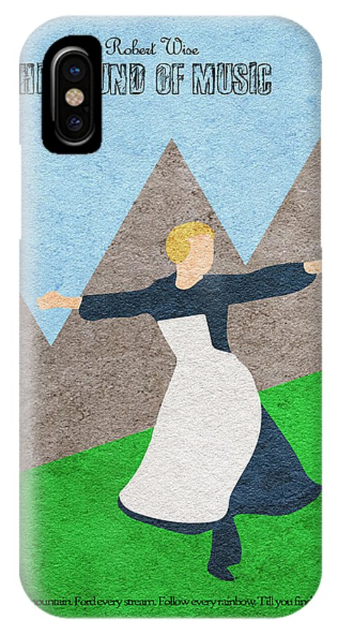 The Sound Of Music IPhone X Case featuring the painting The Sound Of Music by Inspirowl Design