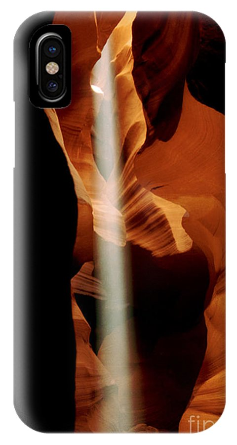 Antelope Canyon IPhone X Case featuring the photograph The Source by Kathy McClure