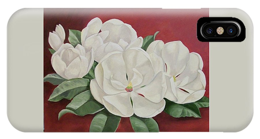 Flower IPhone Case featuring the painting The Southern Beauty by Wanda Dansereau