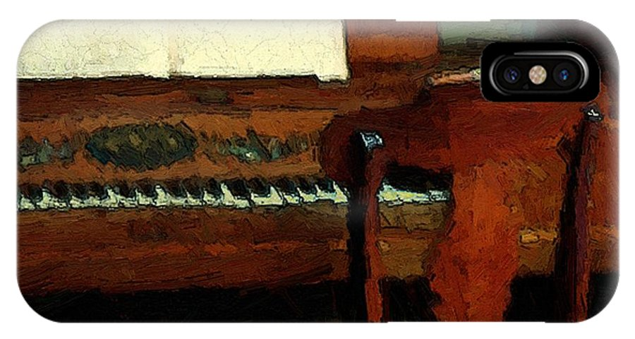 Colonial IPhone X Case featuring the painting The Square Piano by RC DeWinter