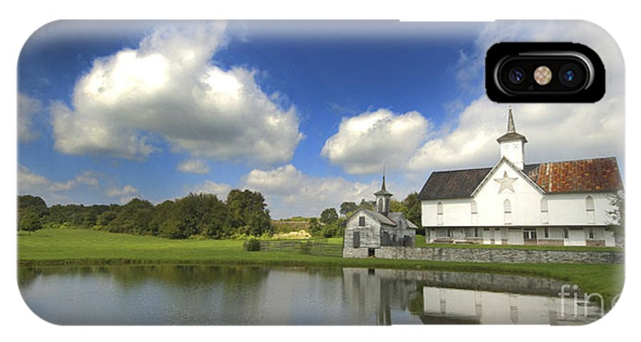 Barn IPhone X Case featuring the photograph The Star Barn After The Storm by Paul W Faust - Impressions of Light