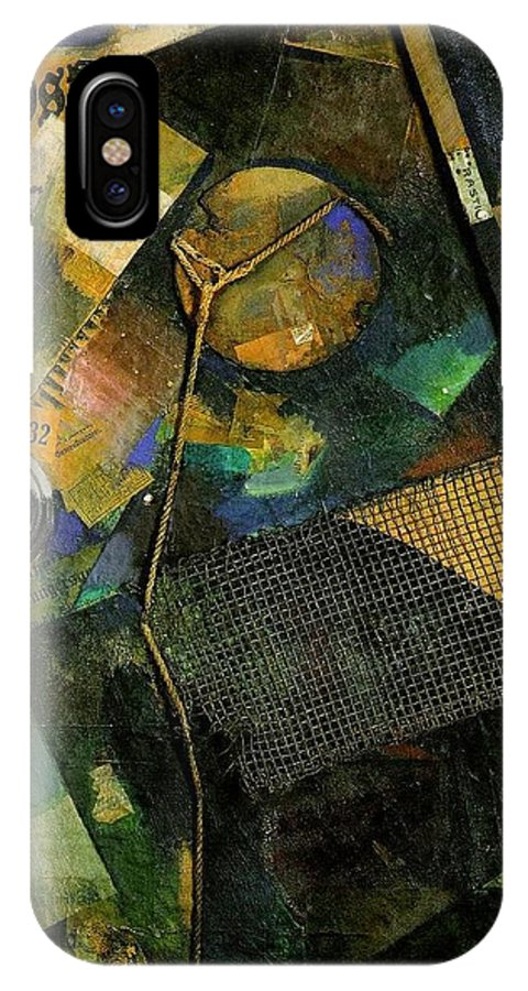 Kurt IPhone X Case featuring the mixed media The Star Picture 1920 by Kurt Schwitters