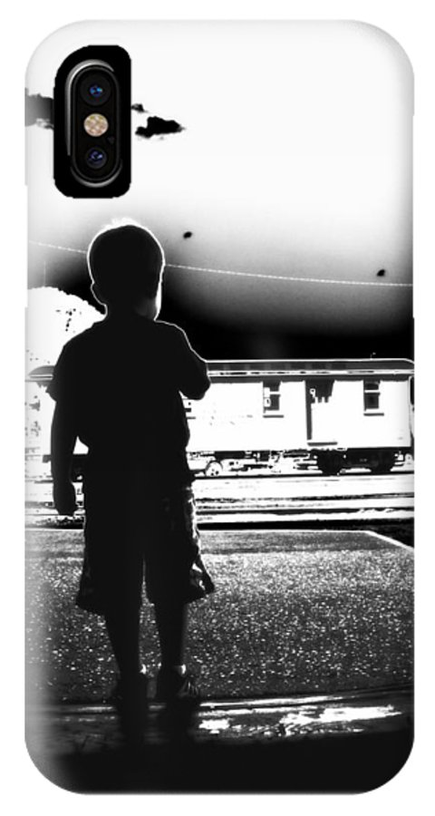 Black And White IPhone X Case featuring the photograph The Station by Holly Storz